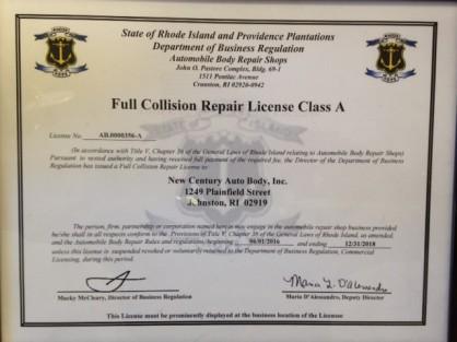 Full Collision repair License Class A