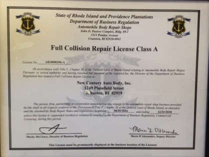 Full Collision repair License Class A