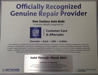 Off. Recognized Genuine Repair Provider