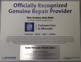 Off. Recognized Genuine Repair Provider
